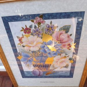 Floral Picture with golden frame